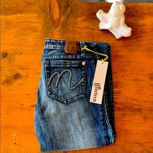 Vintage nineteen rhinestone boot cut jeans